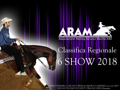 Classifica regionale dopo il 6 show ARAM 2018