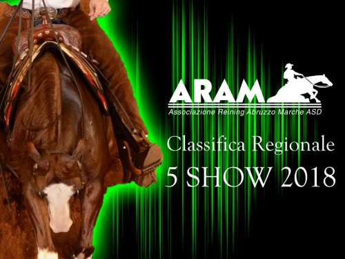 Classifica regionale dopo il 5 show ARAM 2018